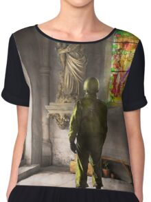 WWII - A prayer for Courage 1940 Chiffon Top