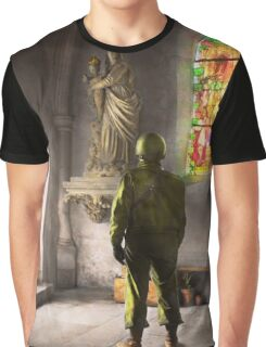 WWII - A prayer for Courage 1940 Graphic T-Shirt
