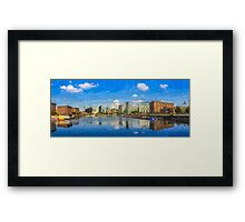 Salthouse Dock Panorama with oil paint effect Framed Print