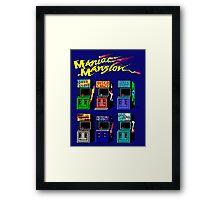 MANIAC MANSION ARCADE ROOM Framed Print