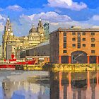 The Albert Dock and Royal Liver Building by Paul Madden