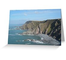 MORWENSTOW CLIFFS FROM SHARPNOSE POINT CORNWALL SEASCAPE  Greeting Card