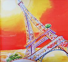 Up the Eiffel Tower by Carol Dumousseau
