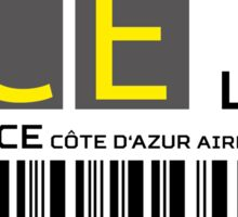Destination Nice Airport Sticker