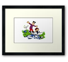 Little Viking and Strong Man Framed Print