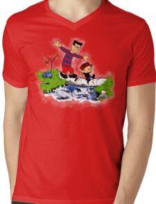 Little Viking and Strong Man Mens V-Neck T-Shirt
