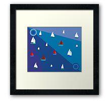 Dinghy sailing boats Framed Print