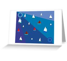 Dinghy sailing boats Greeting Card