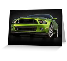 Mustang Green Greeting Card
