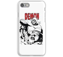 The DEMON plain (White background printed) iPhone Case/Skin