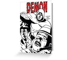 The DEMON plain (White background printed) Greeting Card