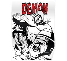 The DEMON plain (White background printed) Poster