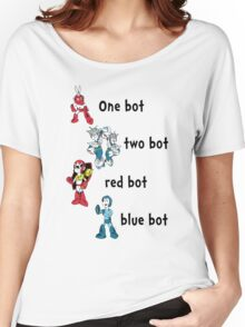 One bot, two bot, red bot, blue bot Women's Relaxed Fit T-Shirt