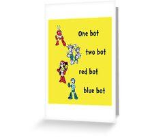 One bot, two bot, red bot, blue bot Greeting Card