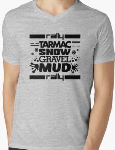 Rally – tarmac snow gravel mud (1) Mens V-Neck T-Shirt