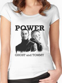 Power TV - Ghost and Tommy Women's Fitted Scoop T-Shirt