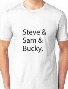 Steve & Sam & Bucky Unisex T-Shirt