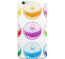 Golf tshirt - East Peak Apparel - Multi Coloured Golf Balls Print iPhone Case/Skin