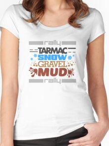 Rally – tarmac snow gravel mud (4) Women's Fitted Scoop T-Shirt