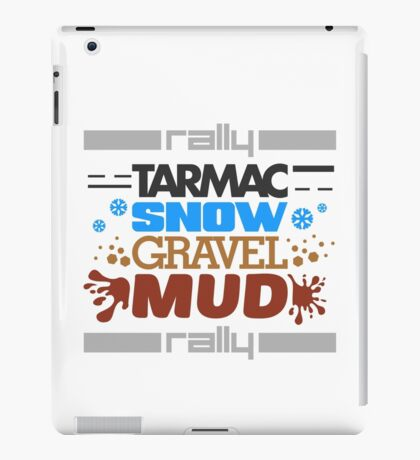 Rally – tarmac snow gravel mud (4) iPad Case/Skin