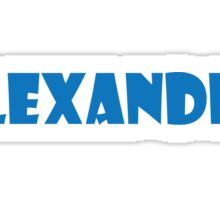 Alexander (Blue) Sticker