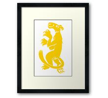 Silly Lioness Framed Print