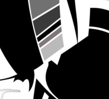 daft punk helmets no logo (black and white) Sticker