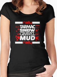 Rally – tarmac snow gravel mud (5) Women's Fitted Scoop T-Shirt
