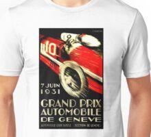 """GENEVA GRAND PRIX"" Vintage Auto Racing Print Unisex T-Shirt"