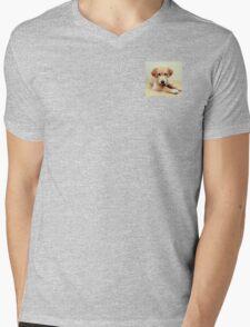 Golden Retriever  Mens V-Neck T-Shirt