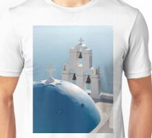 Blue Dome and Belfry of Santorini Church Unisex T-Shirt