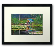 Good Things Come To Those Who Bait.  Framed Print