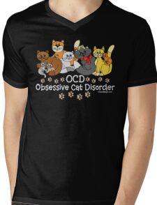 OCD Obsessive Cat Disorder Mens V-Neck T-Shirt
