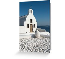 White Church, Oia, Santorini Greeting Card
