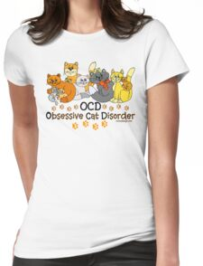 OCD Obsessive Cat Disorder Saying Womens Fitted T-Shirt