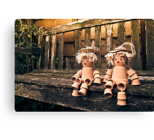 Flowerpot Men Canvas Print