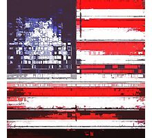 American Flag Abstract Photographic Print