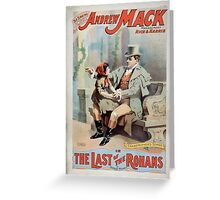 Performing Arts Posters The singing comedian Andrew Mack in the The last of the Rohans by Ramsay Morris 1113 Greeting Card