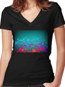 Faerie Garden Vignette Women's Fitted V-Neck T-Shirt