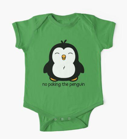 No Poking The Penguin Cartoon One Piece - Short Sleeve