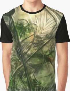 Elephant Ferns Graphic T-Shirt