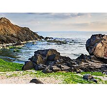 sea shore with stones after the storm Photographic Print