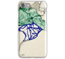 Egon Schiele -Two Friends, Reclining (Tenderness)  iPhone Case/Skin
