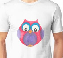 Elwood the curious little owl Unisex T-Shirt