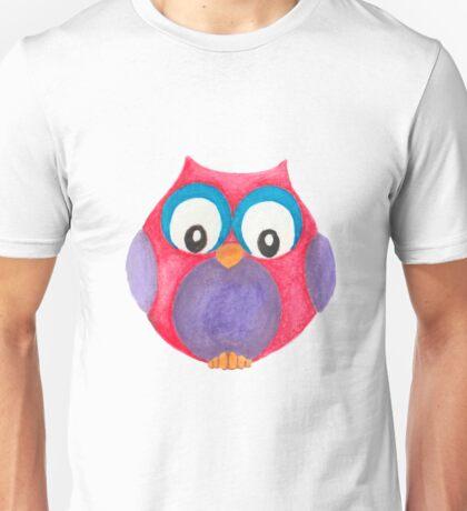 Elwood the curious little owl Unisex T-Shirt