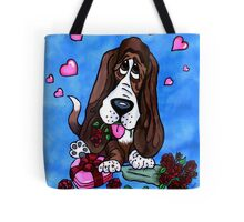 Basset in love Tote Bag