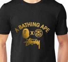 STUSSY edition A BATHING APE - GOLD Unisex T-Shirt