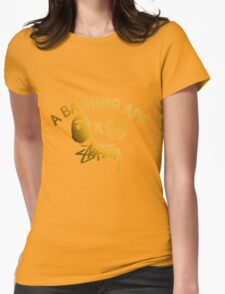 STUSSY edition A BATHING APE - GOLD Womens Fitted T-Shirt