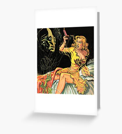 The Spectre in the Darkness Greeting Card