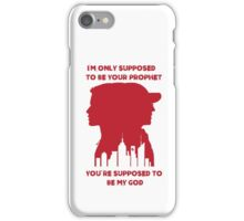Mr Robot Quote - Your Prophet Your God- (RED) iPhone Case/Skin